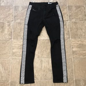 Checkered Black Jeans